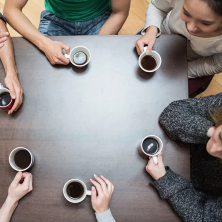Coffee around the table