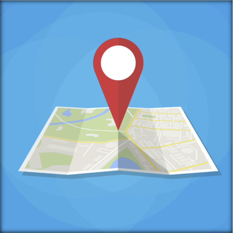 Map with Pin